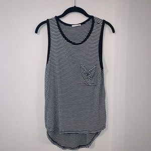 Black and White stripped tank